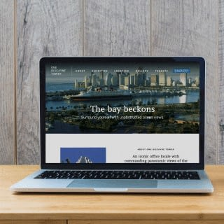 Laptop with One Biscayne Tower website