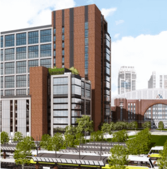 Architect rendering of Victory Commons