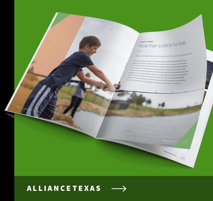 Brochure showing boy fishing