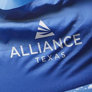 AllianceTexas flag showcasing the new logo