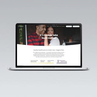 Laptop showing Imagine Health website